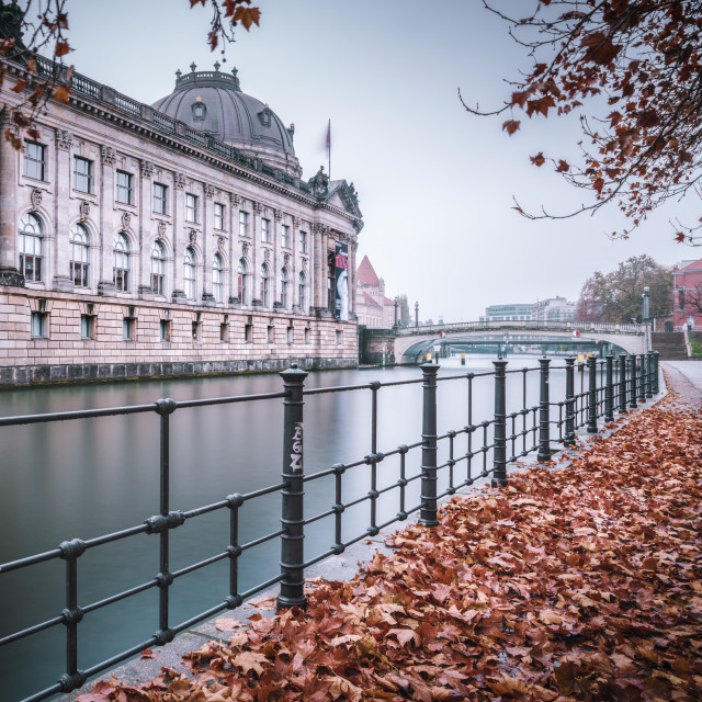 """Bodemuseum in Berlin during the autumn season"" stock image"