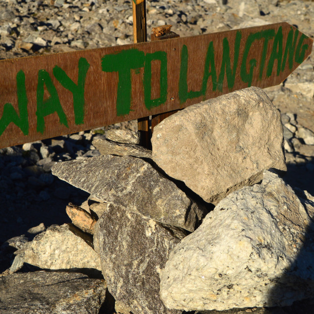 """Way to Langtang"" stock image"