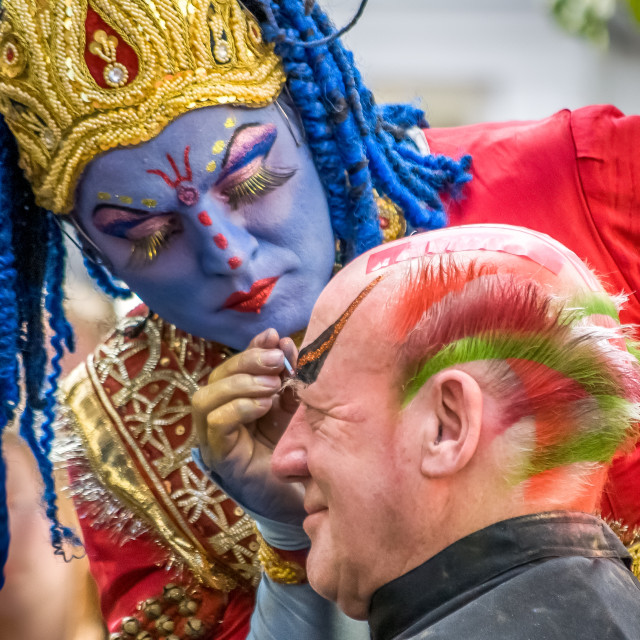 """The Face Painter"" stock image"