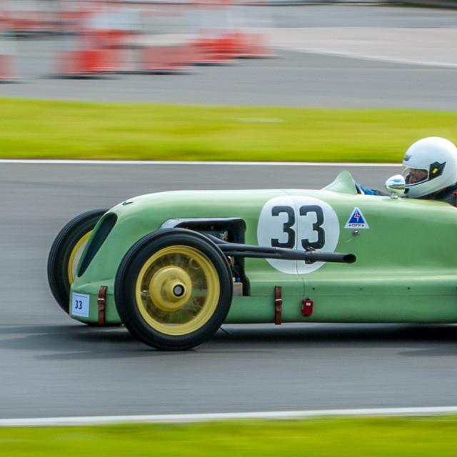"""Vintage Austin 7 Racing Car at speed"" stock image"