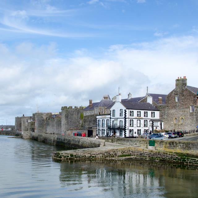 """Caernarfon Walls"" stock image"