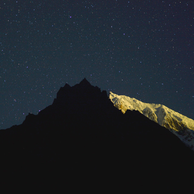 """Under Himalayan Stars"" stock image"