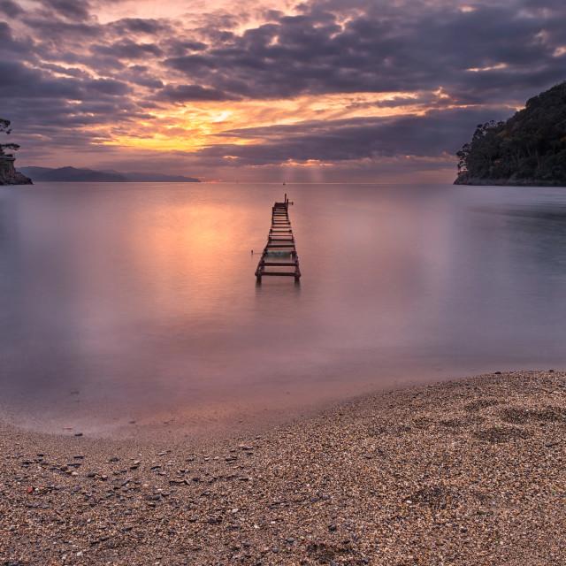 """""""Sunrise in Paraggi..."""" stock image"""