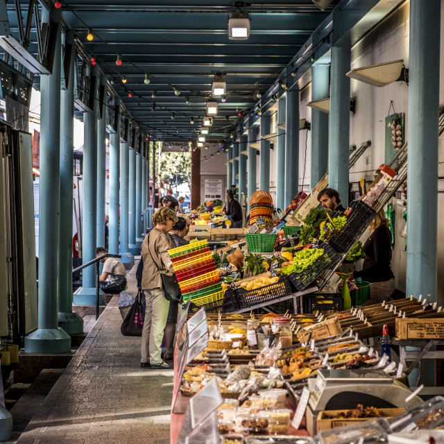 """Victor Hugo market in Toulouse"" stock image"