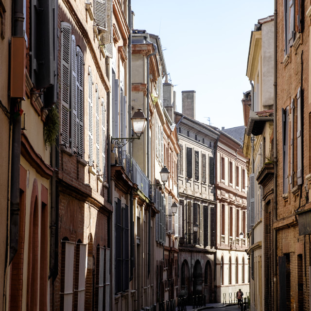 """""""Street view in the downtown of Toulouse"""" stock image"""