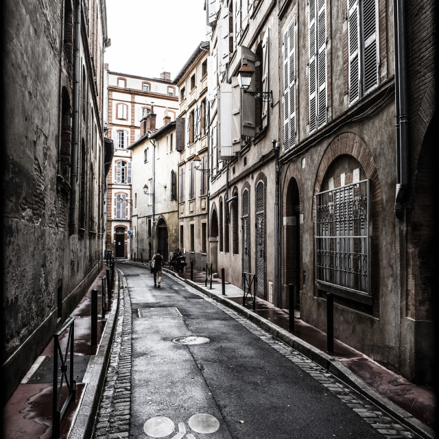 """Street view in the downtown of Toulouse"" stock image"