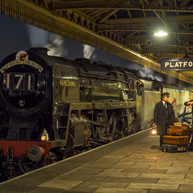 """Oliver Cromwell at Loughborough"" stock image"