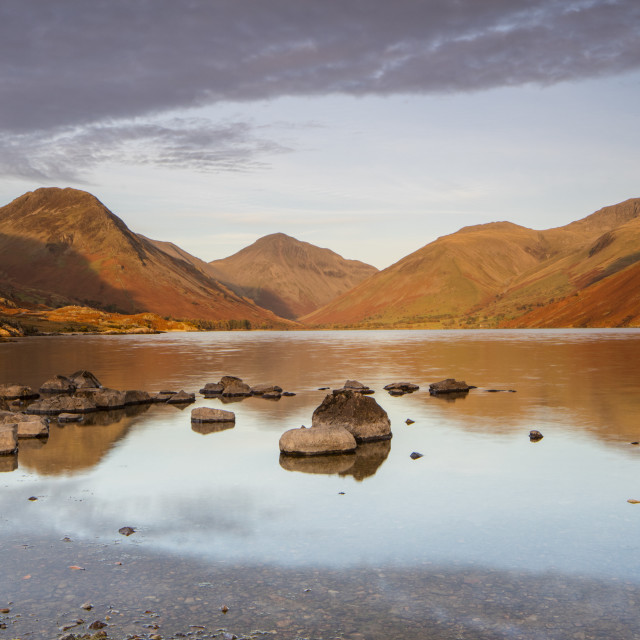"""Wast Water in the Lake District"" stock image"