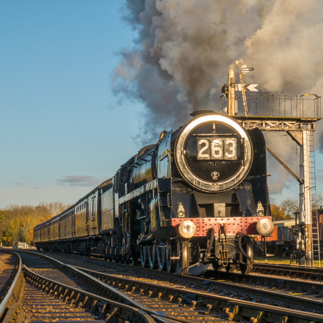 """""""Oliver Cromwell in steam"""" stock image"""