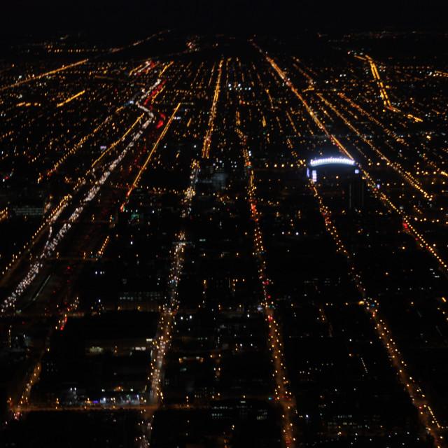 """Chicago City Lights"" stock image"