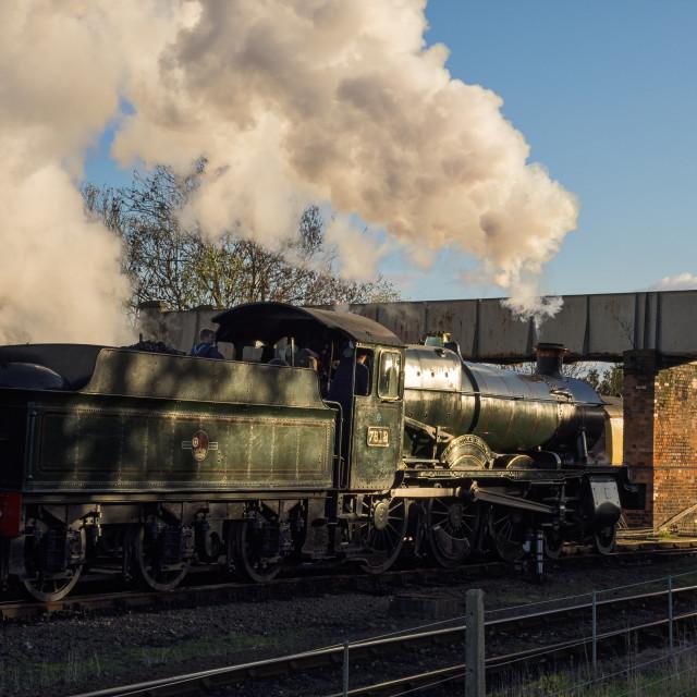 """GWR 7800 Class No.7812 Erlestoke Manor"" stock image"