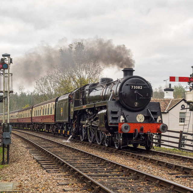 """BR Standard 5 No.73082 Camelot"" stock image"