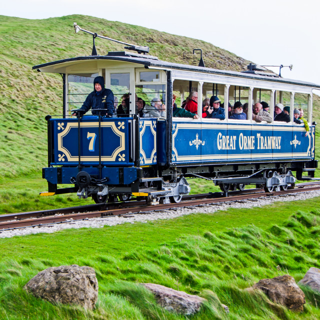 """Great Orme Tramway"" stock image"