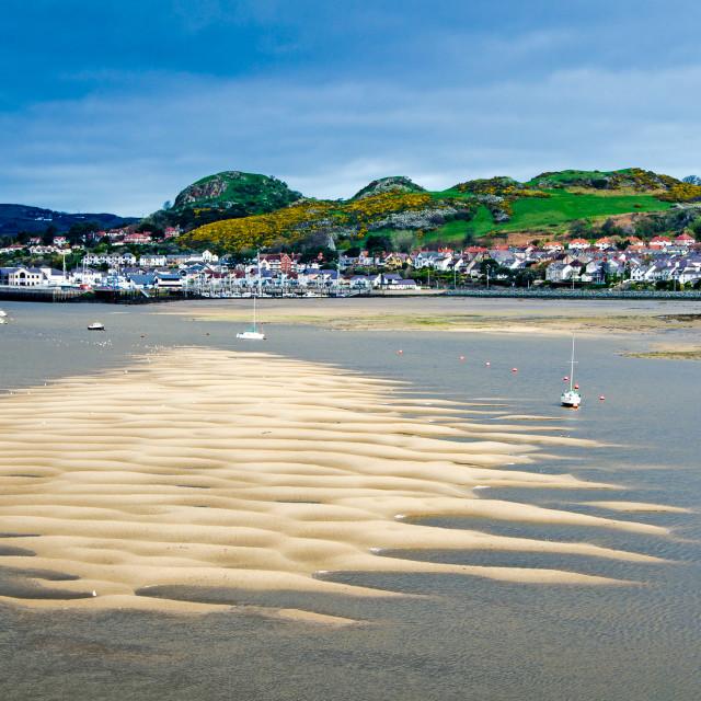 """Conwy sandbank"" stock image"