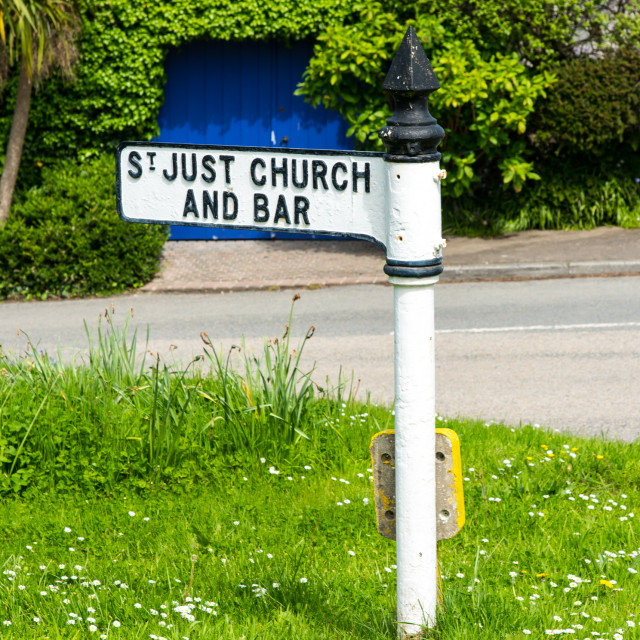 """St Just in Roseland, Cornwall."" stock image"