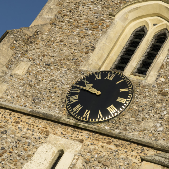 """Church Clock"" stock image"