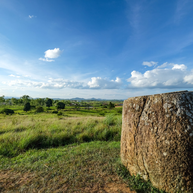 """Plain of Jars, Laos"" stock image"