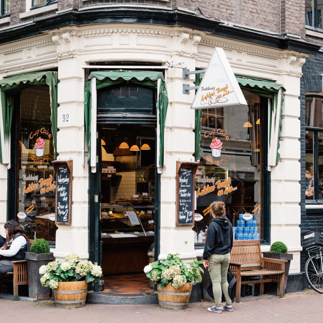"""""""Cute bakery in Amsterdam"""" stock image"""