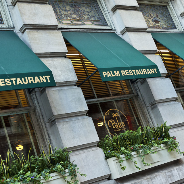 """The Palm restaurant, Philadelphia, Pennsylvania, USA"" stock image"