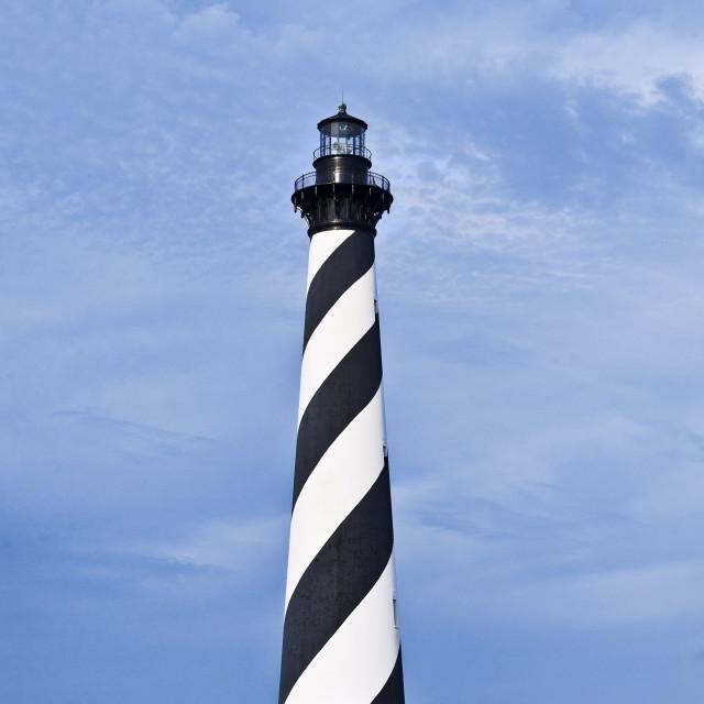 """Cape Hatteras lighthouse, Outer Banks, North Carolina, USA"" stock image"