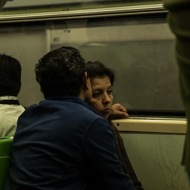 """Love on the Metro"" stock image"