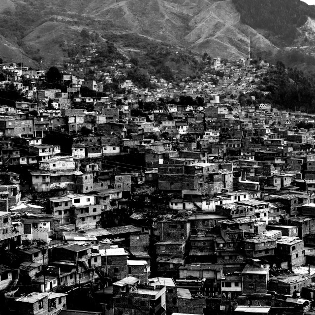 """""""Comuna up to the Mountain Top"""" stock image"""