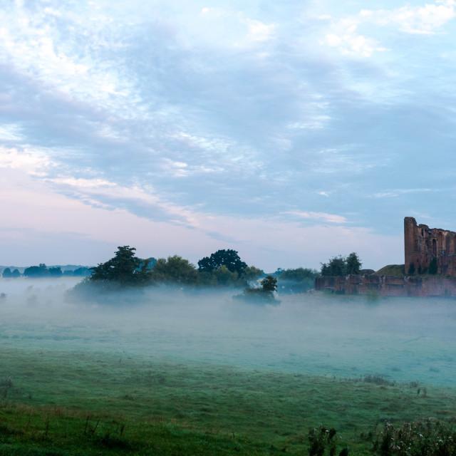 """Kenilworth Castle Misty Morning"" stock image"