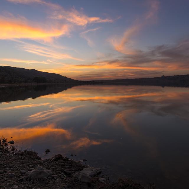 """Sunset on a Lake"" stock image"