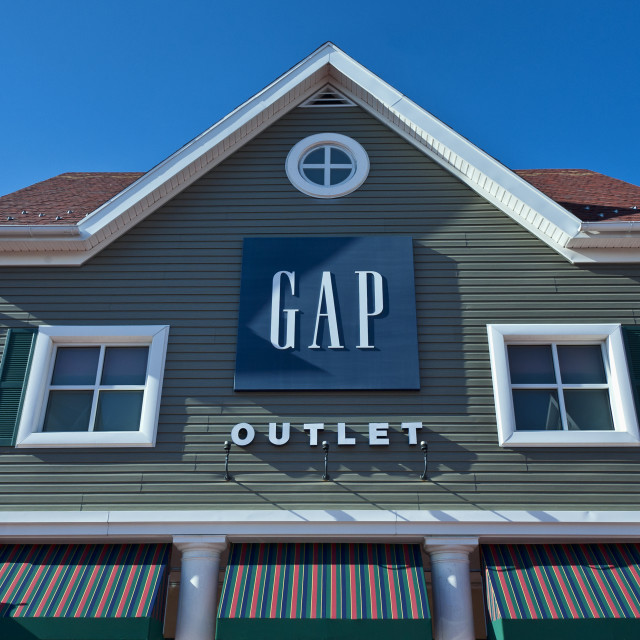 """GAP Outlet store at Clinton Crossing, Connecticut, USA"" stock image"