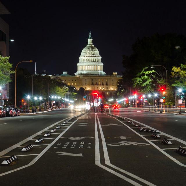 """US Capitol street view WASHINGTON DC"" stock image"