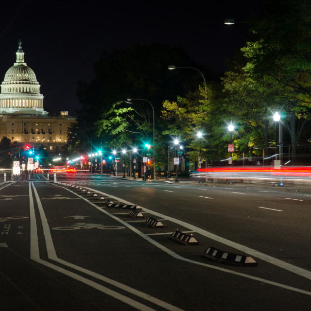 """""""US Capitol street view"""" stock image"""
