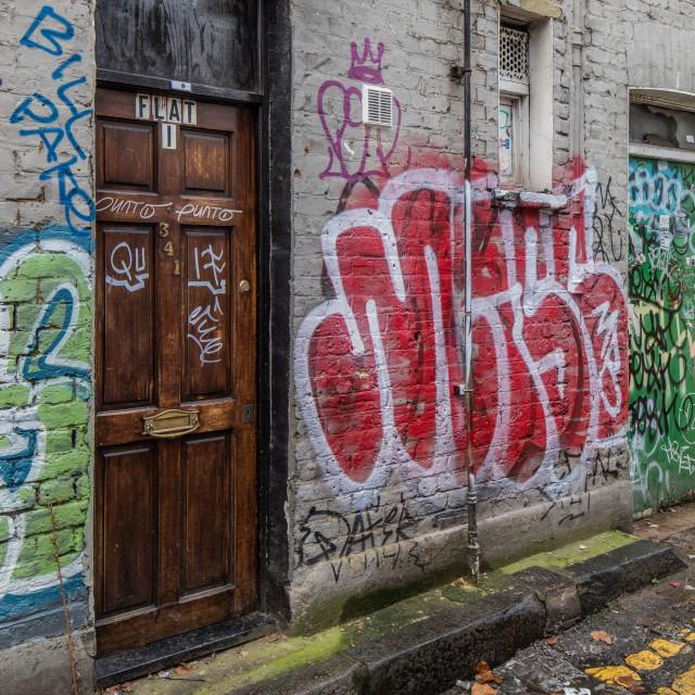 """Flat1 Graffiti"" stock image"