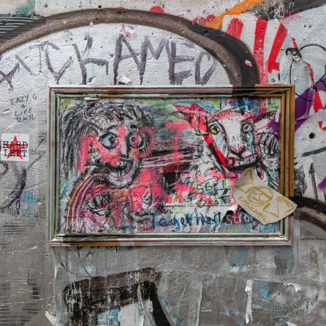 """""""Graffiti Sheep"""" stock image"""