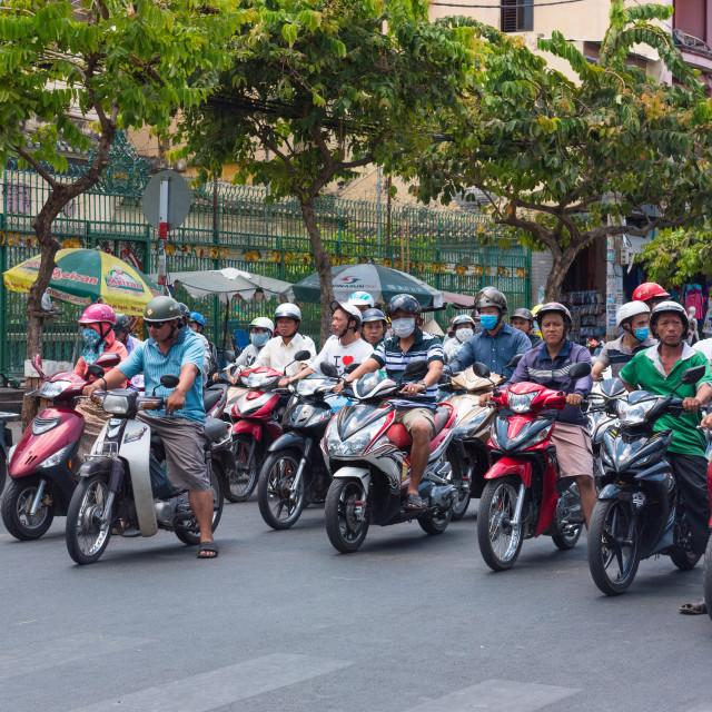 """""""Busy Streets of Saigon"""" stock image"""