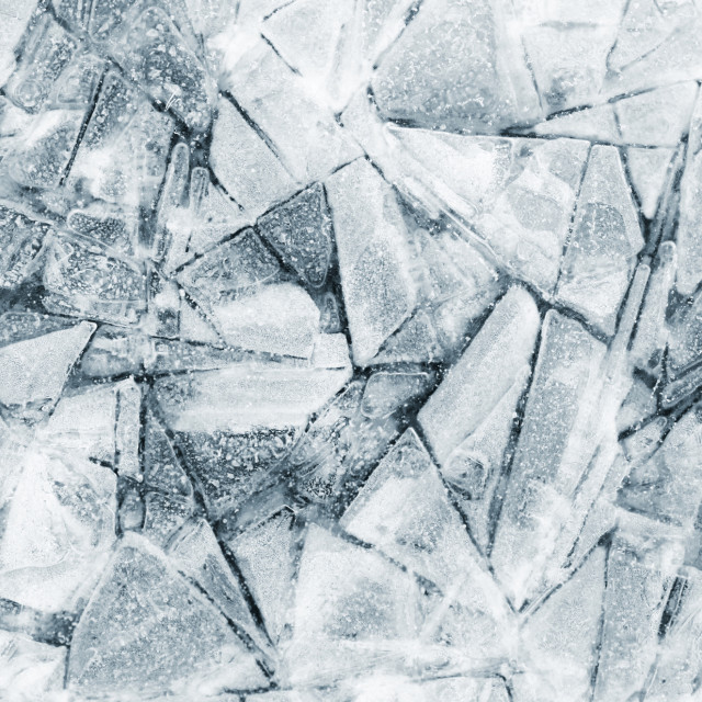 """Abstract ice shapes"" stock image"