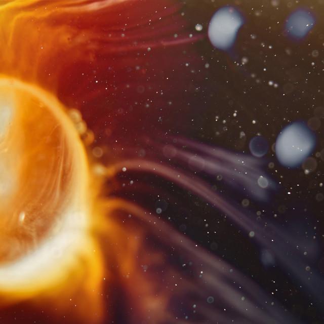 """""""Solar explosion in space fom star supernova"""" stock image"""
