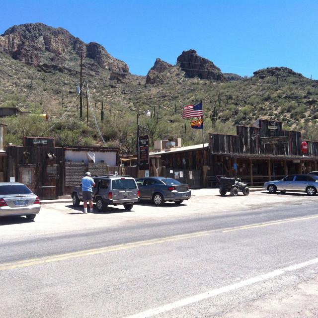 """Tortilla flats, Arizona"" stock image"