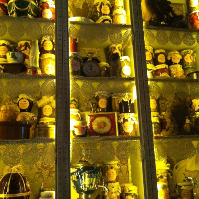 """""""Trinkets and cabinets"""" stock image"""
