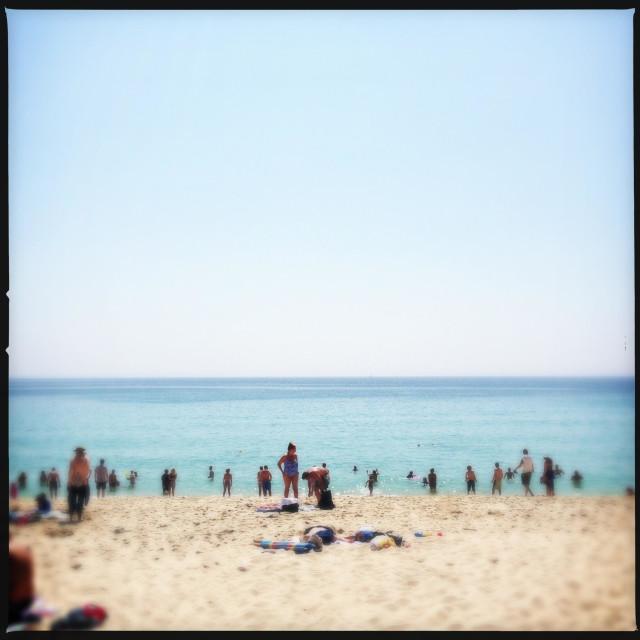 """Porthcurno Beach, Cornwall, UK"" stock image"