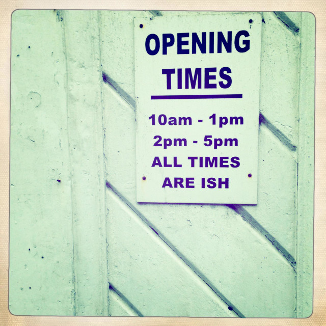 """Opening times"" stock image"
