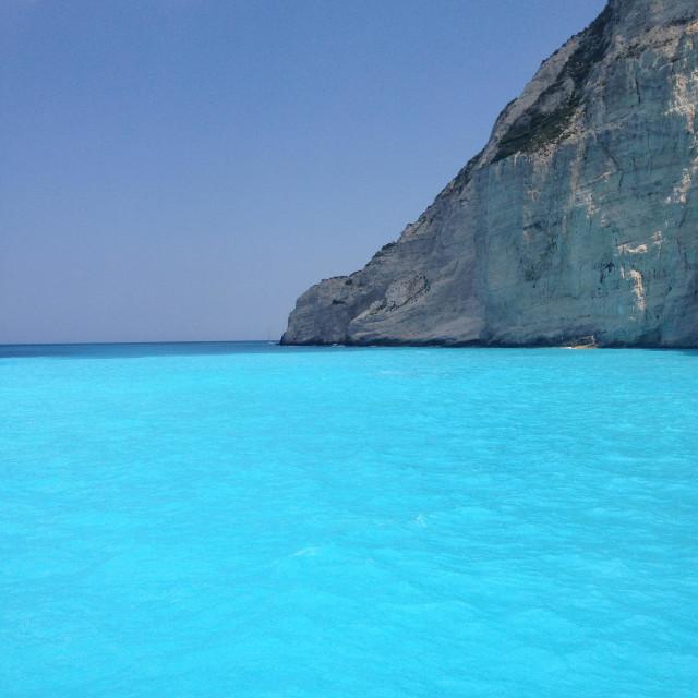 """Smuggler's Cove, Zakynthos"" stock image"