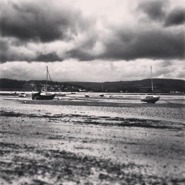 """Exmouth estuary, Devon"" stock image"