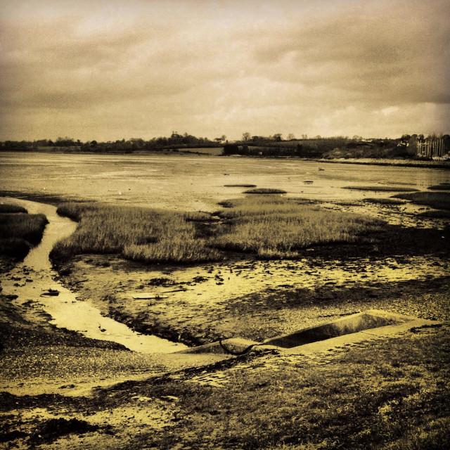 """""""Exe estuary, exmouth, Devon"""" stock image"""