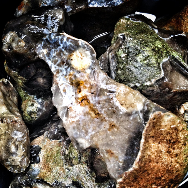 """Flint stones"" stock image"