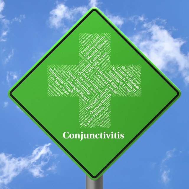 """""""Conjunctivitis Sign Represents Poor Health And Afflictions"""" stock image"""