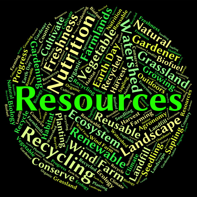 """""""Natural Resources Represents Words Water And Gas"""" stock image"""
