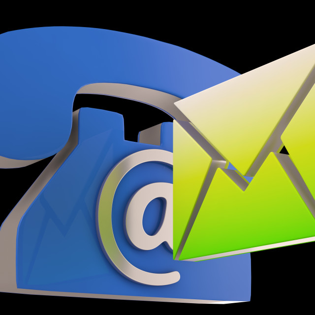 """""""Phone Envelope Shows Telephone And E-mail Correspondence"""" stock image"""