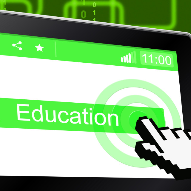 """Educate Education Represents Tutoring School And University"" stock image"