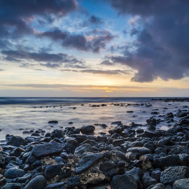 """Rocks on the beach"" stock image"