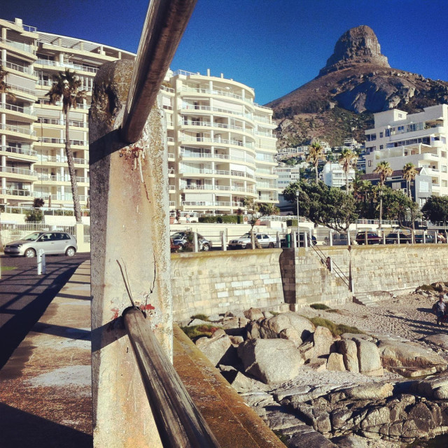 """Seapoint promenade in Cape Town"" stock image"
